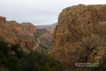 Looking down Fish Creek Canyon and the Apache Trail from Minnow.