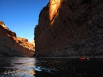 Floating down the Colorado River.