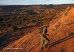 David hikes out of Coyote Gulch.