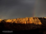 A rainbow seen from our campsite the morning we left the San Rafael Swell.