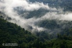 Low hanging clouds roll into the valley floor near Bellinzona.