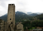 A tower of Castelgrande in Bellinzona.