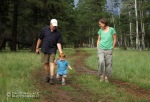 Laura's Dad, Errol. Wyatt and Laura go for an afternoon stroll at the Nordic Center.