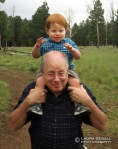 Wyatt and Gramps at the Nordic Center.
