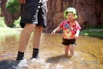 Wyatt gets his feet wet in Aravaipa.