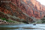 Mark floats in a packraft down the Colorado River in Grand Canyon National Park.