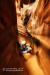 Brian wades in Hard Day Harvey in Glen Canyon National Recreation Area.