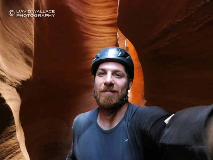 A selfie in the West Fork of Leprechaun Canyon.