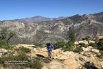 Reaching the ridge above Ice Cube Canyon.