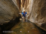 Eric in a beautiful hallway in Ice Cube Canyon in the Red Rock Canyon National Conservation Area.