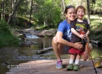 Laura and Wyatt in Horton Creek on the Mogollon Rim in the Tonto National Forest.