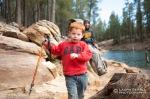 Wyatt hikes near Willow Springs Lake.