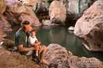 David and Wyatt hanging out below the Tonto Natural Bridge.