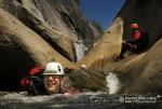 Cody having fun in Upper Jump Canyon.