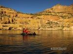Chris pack rafting on Canyon Lake.