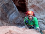 Eric rappels in Tatahoysa Wash.