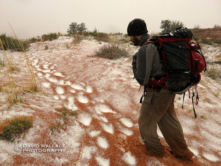 ... and strengthens on the hike out (although this might actually be graupel).
