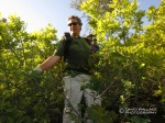 Brian fights his way through thick vegetation as we make our way into the Checkerboard drainage.