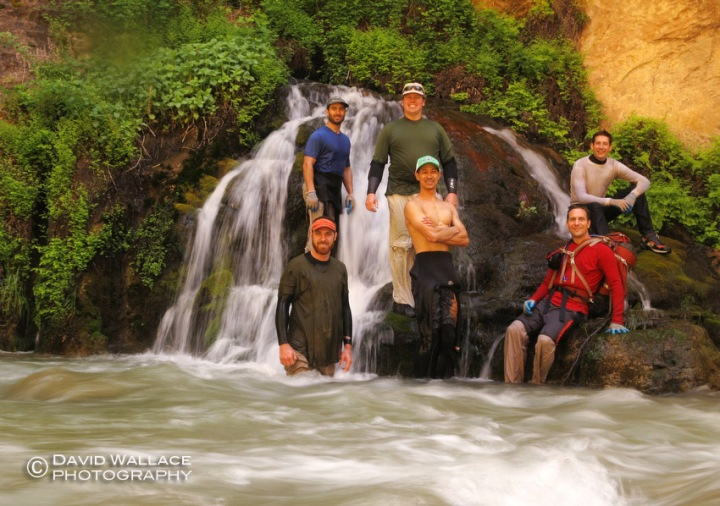 The crew at Big Spring on the hike out in the Narrows.