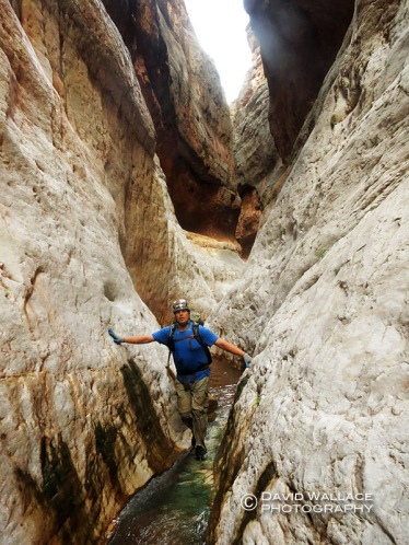 Brian makes his way through the exquisite Redwall narrows of Scotty's Hollow.