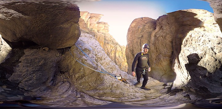 A frame grab from the 360 degree Virtual Reality video in Punchbowl Canyon.